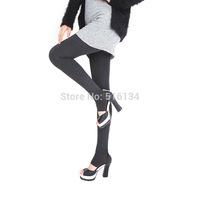 2014 fengcai cotton plus cashmere leggings woman girls Warm Winter Velvet Knitted Thick Leggings Super Elastic free shipping