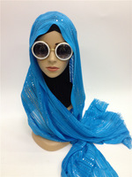 SYF095 sequins muslim long scarf islamic hijab free shipping,fast delivery,assorted colors