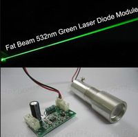 NEW Big Beam Fat Beam 50mW 532nm Green Laser Diode Module/Laser Stage Lighting Show+Focus