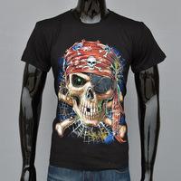 4M255 skull on spider web 3d print 100% cotton short-sleeve T-shirt o-neck men's t shirt mens tops $ tees