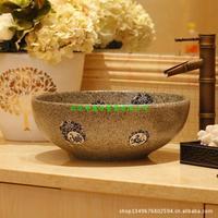 Jingdezhen ceramic art lavabo, archaize basin, basin to wash their hands, the Chinese zodiac