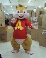 New Alvin Mascot Costume Alvin and the Chipmunks Mascot Costume Holloween Mascot