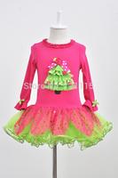 New Design Children Christmas Dress Girls Long Sleeve Merry Christmas Dresses Tutu Dress Kids Christmas Party Princess Dress