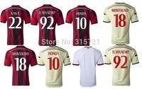 de all player AC Milan Honda Pazzini kaka Menez Top Thailand Quality football shirt soccer jersey custom name shorts
