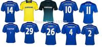 de all player Chelsea Hazard Diego Costa Fabregas Schurrle Top Thailand Quality football shirt soccer jersey custom name shorts