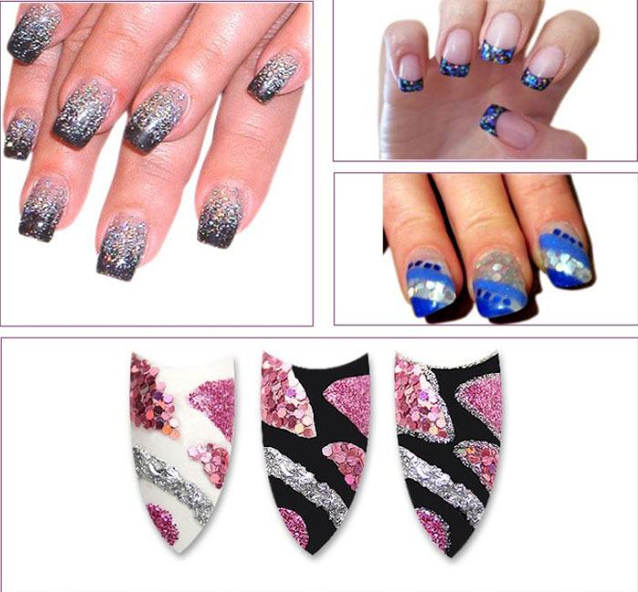 Best seller 24 Colors Spangle Glitter Nail Art Paillette Acrylic UV Powder Polish Tips Set I-eat(China (Mainland))
