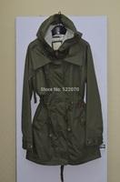 2014 Fall Winter Women New Fashion Europe and American Brand  Turn-Down Collar Long Sleeve Brief Windbreak With Hood