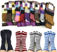 Free Shipping 2014 Autumn&Winter Men's And Women's Fashion Warm Casual 5 Toes Socks, 1 Lot=6 Pairs, Size 34-37,39-42,  38-41