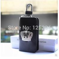 Free shipping automotive crown leather key bag JP DAD crown car key bag Set auger crown key package remote key bag