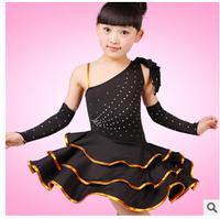 New Childrens Latin Dance wear Girls Party Costume Dress Skirt