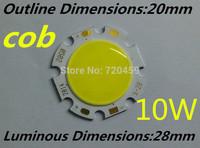 10W cob White/Warm White Integrated Light led chip  diamete luminous dimension 20mm  New Free shipping 15pcs/lot 7w cob led chip