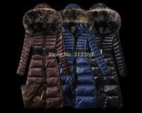 Luxury Fashion Brand Women Down Parkas Fur Collar Warm Winter Jacket Women Down Jacket With Belt Winter Coat Lady Down Coat