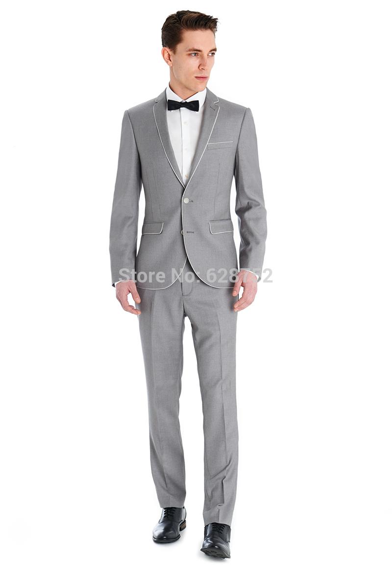 Gray Suit With Black Bow Tie Grey Suit Bow Tie Wedding Grey