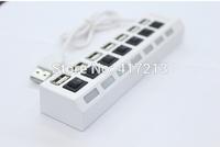 Free transportation : Mini USB 2 high speed 7 port hub / off black white notebook computer direct sharing device 100 pcs
