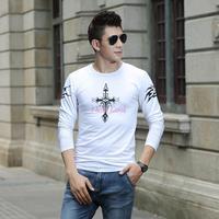 Factory direct Men Long sleeve t-shirt Famous sport t shirt men BRAND O-Neck Shirt High Quality cotton Slim t shirt for Men