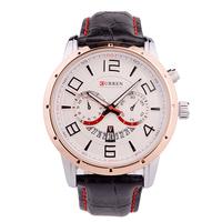 Curren Brand Man Belt Watches, Military Waterproof Watches, Fashion Quartz Dress Watch Free Shipping