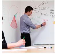 DIY stick whiteboard  Whiteboard sticker write a drawing board strap post-it note memo Home Decor Wall Sticker 90 * 200 CM