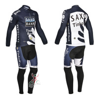 Road 2014 AG2R cycling jersey  long sleeve and cycling bib pant set Team ag2r 2014 cycling clothing/bike jersey brown