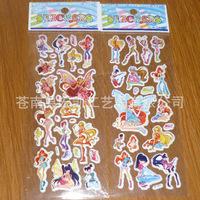 WINX CLUB Factory Direct sale cartoon bubble stickers popular kids like 100 sheets/lot