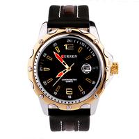 Curren Military Watches, Men's Leather Belt Movement Watches, Men's Quartz Digital Watch, Free Shipping
