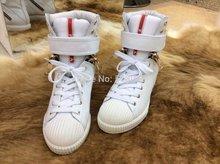 2014 famosa marca mulheres italianas marca de couro genuíno de alto Plataformas top sapatos(China (Mainland))