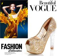 designer stiletto heels glitter block Heel sandals wedding dress shoes high heel sandals grain suede shoes hn001-58