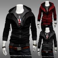 2014 Real Sudaderas New Fashion America Style Men's Causal Jacket Clothing Manteau Menswear Coat Man Jaket.3 Colours Size M-xxl
