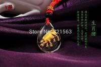 Chinese Twelve Zodiac Mice Cattle Tiger Rabbit long Horse Snake Sheep Monkeys Chicken dog pig,Crystal Pendant,999 glod hot sell