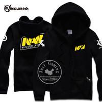 Ukraine SteelSeries navi hoodie natus vincere Team men's hoodie fleece Cardigan sweater open stitch casual jacket