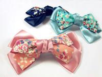 2014 Hot Sale Fashion Free shipping 12pcs/lot korea cloth bowknot hair clips for women