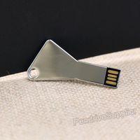 HOT! Wholesale 50pcs lot custom pendrive Key plain metal USB Flash drive mini pen drive memory disk 1G 32G