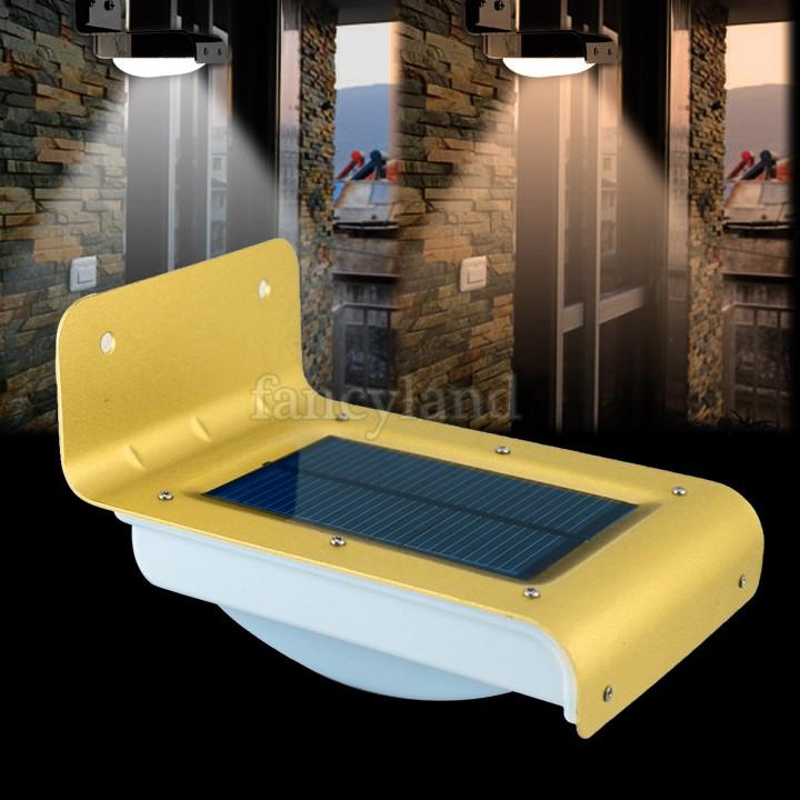 1pcs 16 LED Solar Panel Light Lamp Led Solar Power Light Sound Sensor Outdoor Wall Light Lamp Home Security Gold SV18 SV008508(China (Mainland))