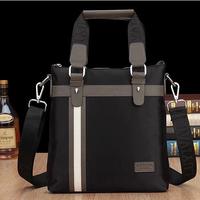 2014 New Fashion Men's Bag Patchwork PU Leather Shoulder Bag Men Messenger Bag
