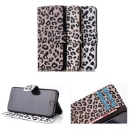 For Apple iPhone6 iPhone 6 4.7'' Leopard Pattern Design Flip PU Leather Wallet Slots&Magnetic Snap Card Holder Stand Case Cover