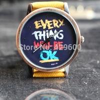 Fashion Fabric band Vintage watch relogio feminino Men women quartz watches with cartoon watch Fashion Electronic