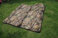 Outdoor Camping sleeping bags leaves envelope adult hooded Camo sleep bag on sale,210x75cm