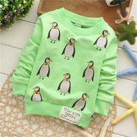 girls boys spring wear animal many penguin cute fashion children sweatshirts hoodies European style KT249R