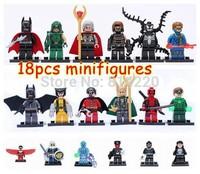18pcs/lot*SUPER HEROES minifigures Brick Elighten BLOCKS falcon redskull green arrow Free Shipping* without original box