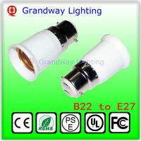 B22 to E27 LED socket adapter Lamp Holder Converter For Light Bulb Lamp Free Shipping