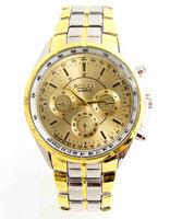 High Quality Fashion men golden watch Stainless Steel Quartz watches Wrist Watch Wholesale RO-80