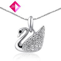 D&Z Austrian crystal necklace Platinum Ducks Fashion necklace series