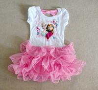 Momo - Pink Frozen 4-7T children's ice princessTutu dresses, FROZEN new princess dress, sequiend dress for girl, free ship
