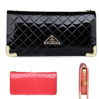 2014 hot selling wallets patent leather long design women wallets Clutch Bags fashion Purse for Ladies