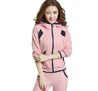 New arrival autumn and winter korea style women hot sale sport suit tracksuits,sportswear women famous brand jogging suit female