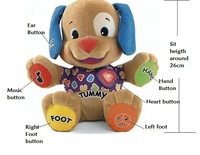 New Fisher Dog multi-function children early educational pulsh toy laugh & learn Interactive musical learning baby toys puppy