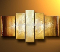 Hand Painted Abstract Oil Painting On Canvas Modern Art Home Decoration 5 Panels Painting Free Shipping