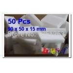 [Free Shipping][Wholesale] 50 Pcs MAGIC SPONGE ERASER CLEANING MELAMINE FOAM CLEANER 90 X 50 X 15MM(China (Mainland))