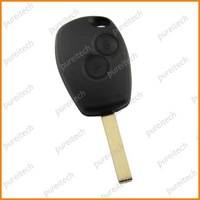 free shipping renault logan key fobs case with battery clip 2 button no logo car remote key wholesale