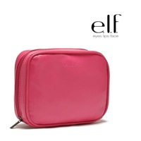 2014  fashion designer new ELF woman square cross-section  small PU leather wash bag women's cosmetic bag makeup bags  Cases