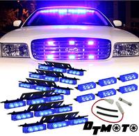 Blue 54x LED Volunteer Vehicle Grill Deck Strobe Warning Lights - 1 set   High quality
